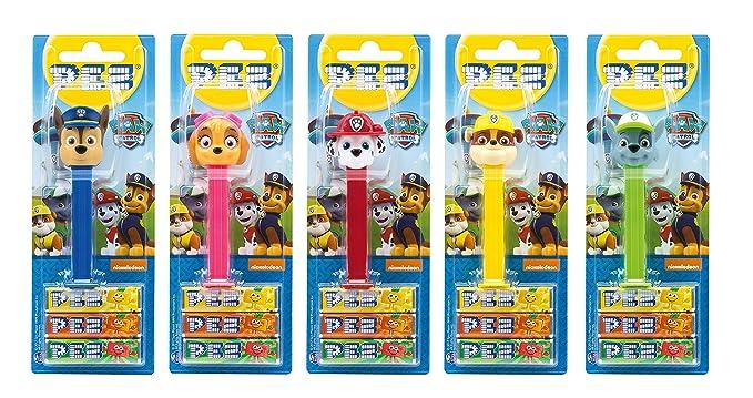 PEZ set de dispensadores Paw Patrol (5 dispensadores con 3 recargas de caramelos PEZ de