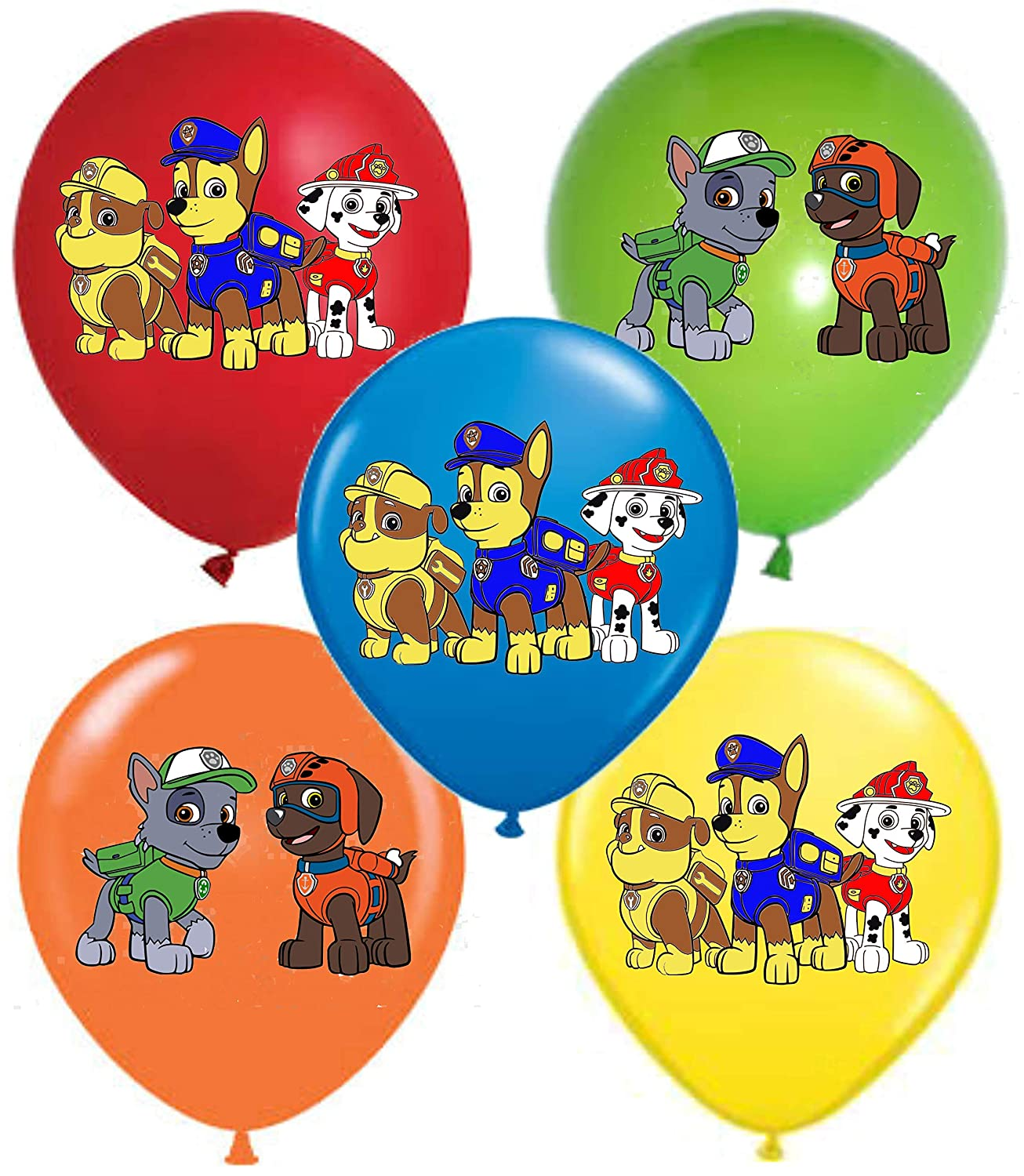 Amazon.com: PAW 12.0 in PATROL Party Balloons 25 pcs ...