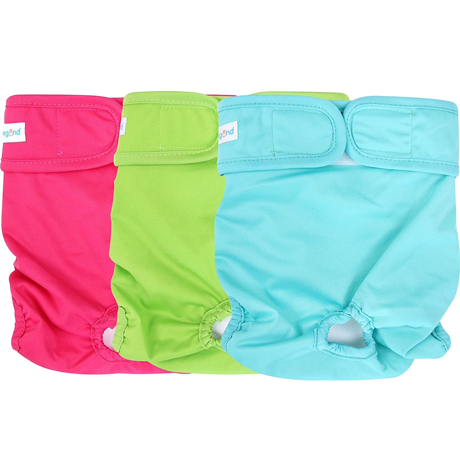 Pack of 3 Paw Legend Reusable Female Dog Diapers