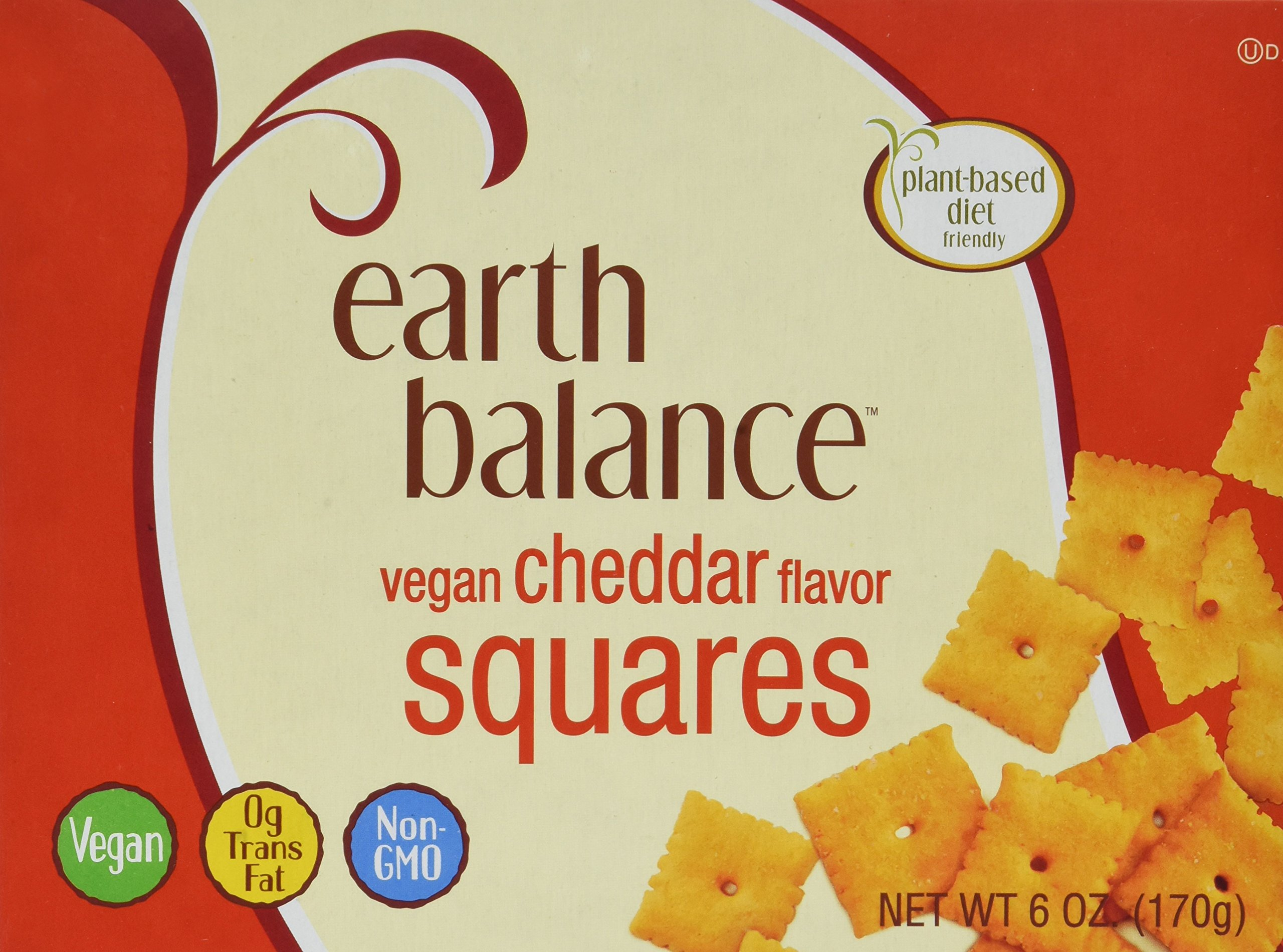 Earth Balance Vegan Cheddar Flavor Squares - 6 oz - 2 Pack by Earth Balance (Image #1)