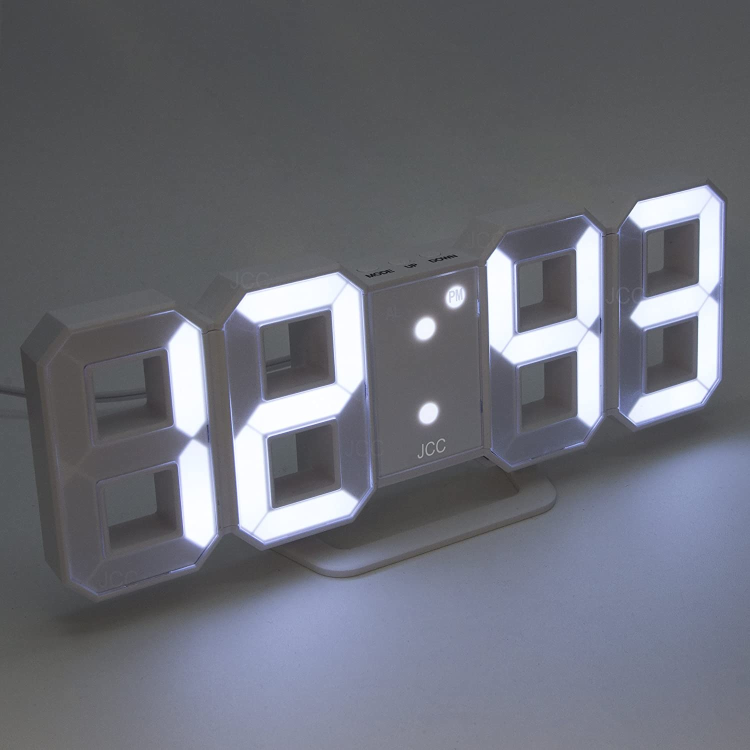 Large LED Digital Wall Clock with Countdown Timer Date 2412Hour