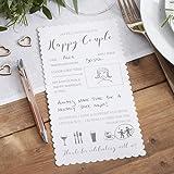 Ginger Ray Advice For The Bride & Groom Wedding Entertainment Cards X 10 - Beautiful Botanics