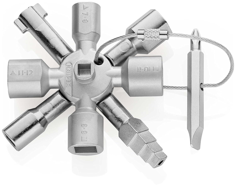 Knipex TwinKey 00 11 01 – pour armoires électriques, fenêtres et systèmes de sectionnement fenêtres et systèmes de sectionnement