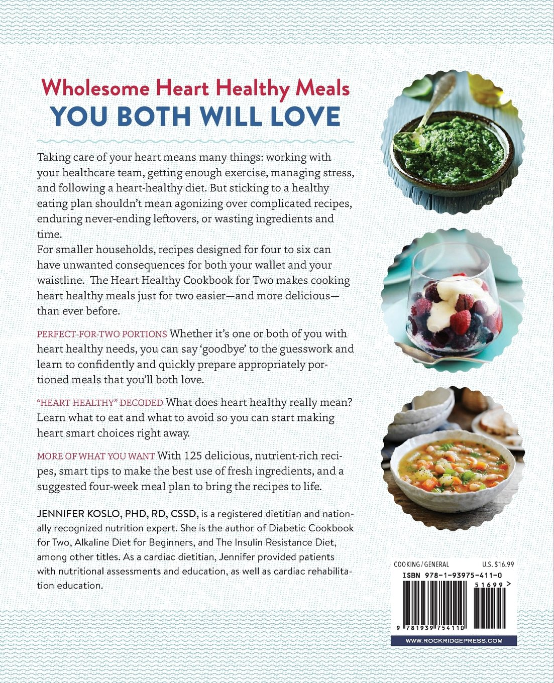 The heart healthy cookbook for two 125 perfectly portioned low the heart healthy cookbook for two 125 perfectly portioned low sodium low fat recipes jennifer koslo phd rd cssd sarah samaan md facc 9781939754110 forumfinder