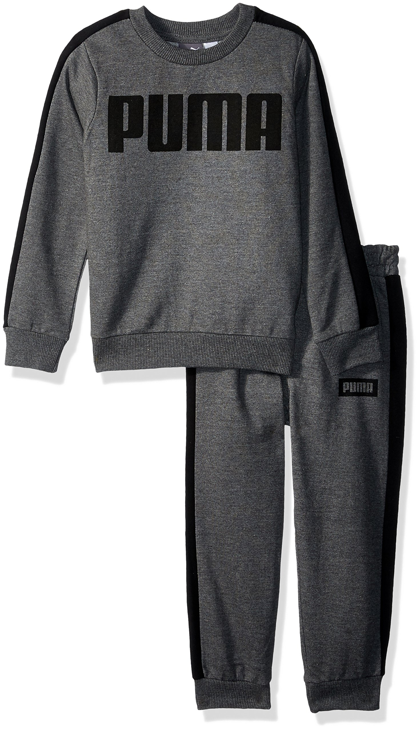 PUMA Toddler Boys' Rebel 2 Piece Set, Charcoal Heather, 4T by PUMA