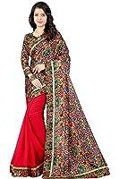 Radadiyatrd Women's Georgette Saree (Sondarya___Red_Free Size)