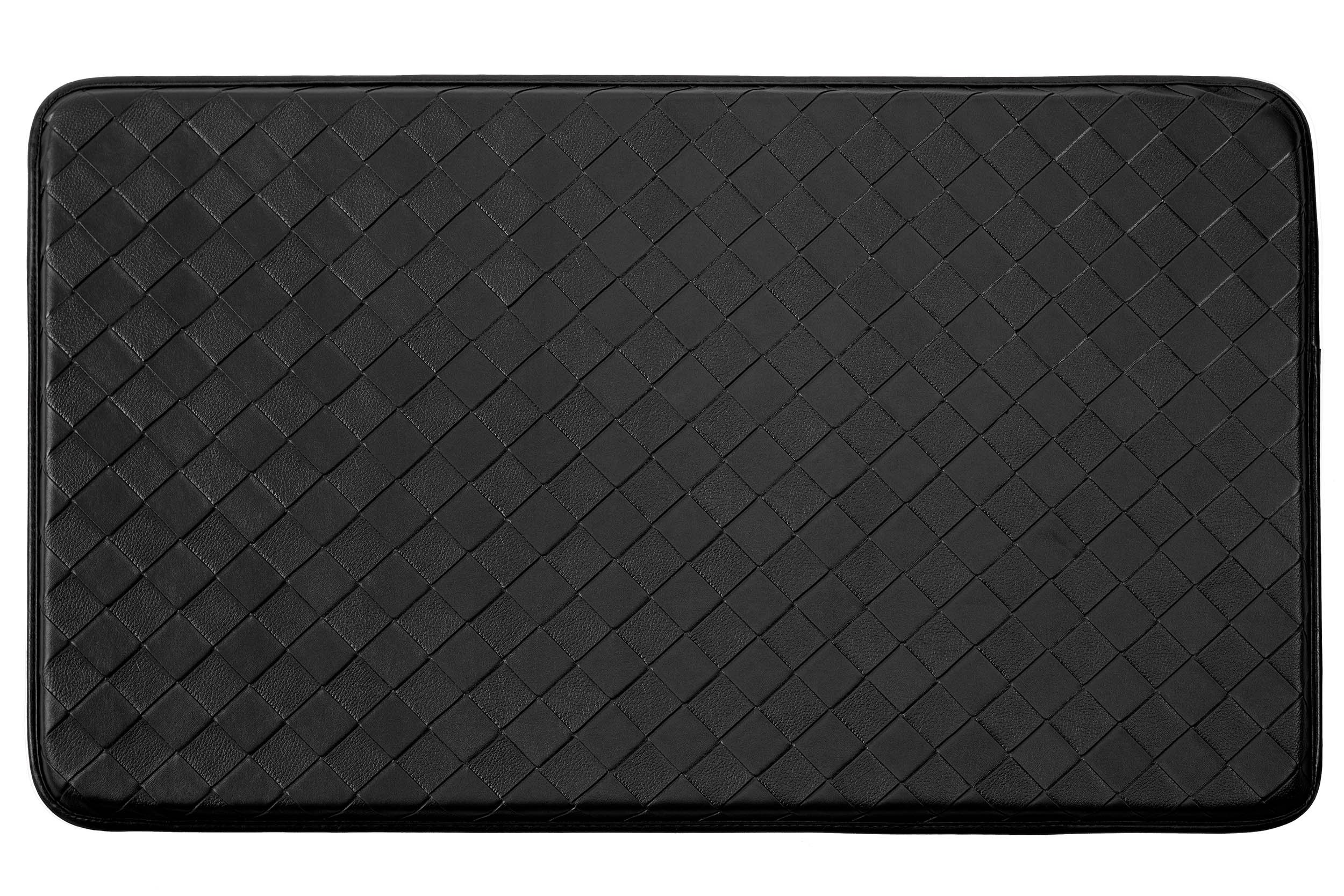 Chef Gear Diamond Weave Non-Skid Comfort Chef Mat, 18 by 30-Inch, Black