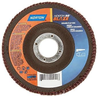 NORTON 66254400256 Flap Disc,4 1//2 In x 120 Grit,7//8