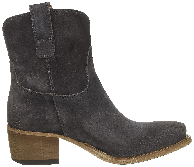 FRU.IT, LEDER, DAMEN STIEFEL, Boots, Größe 39, silbergrau