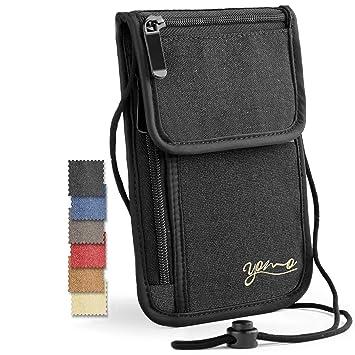 4627c1f3cc93 Amazon.com   Passport Holder- by YOMO. RFID Safe. The Classic Neck Travel  Wallet. (Black-New 2018)   Passport Wallets