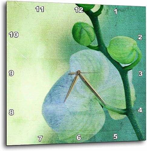 3dRose dpp_38026_2 Sea Orchid Art-Flowers-Zen Art-Nature-Wall Clock, 13 by 13-Inch