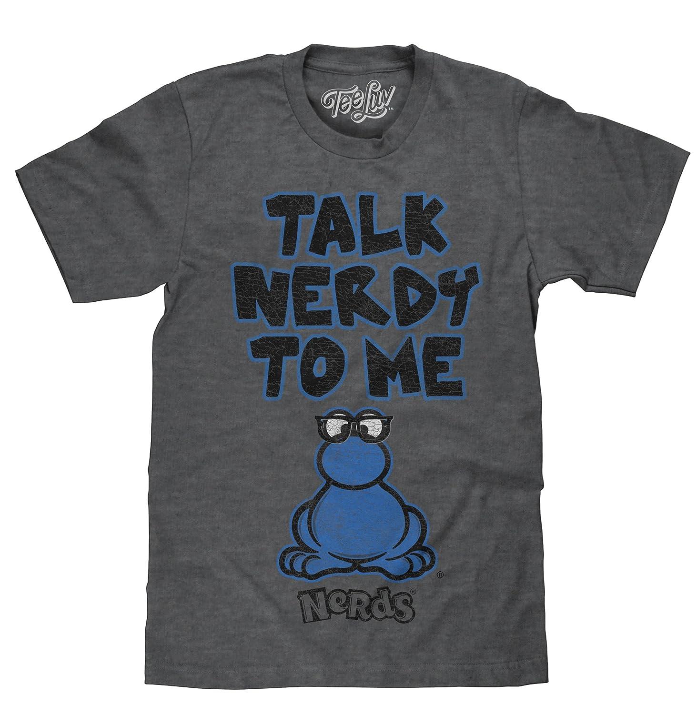 fd8c0a88 Amazon.com: Tee Luv Nerds Candy T-Shirt - Talk Nerdy to Me Retro Graphic  Logo Shirt: Clothing
