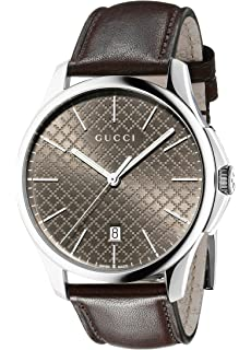 Gucci G-Timeless Analog Display Swiss Quartz Brown Unisex Watch(Model:YA126318)
