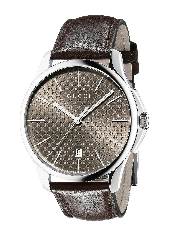 Amazon.com: Gucci G-Timeless Analog Display Swiss Quartz Brown Unisex Watch(Model:YA126318): Watches