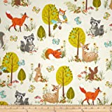 Kaufman Forest Fellow Racoons Nature Fabric By The Yard