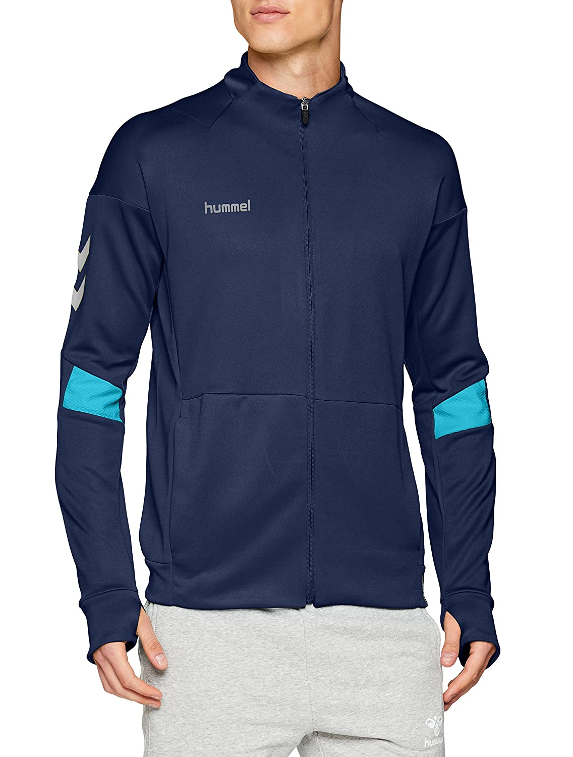 hummel Tech Move Poly Zip Chaqueta, Hombre, Saragossa Sea, XXX-Large