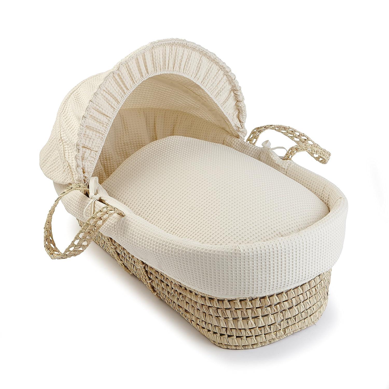 Waffle Palm Moses Basket - Cream Clair de Lune CL4124I