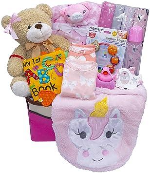 Say It Baby Deluxe Cesta de flores de regalo para beb/é