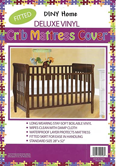 Amazoncom Deluxe Vinyl Fitted Crib Mattress Cover 28 X 52