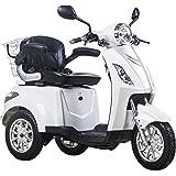 Scooter, E-Mobile, Senior véhicule, E de Tricycle Blanc 25km/h