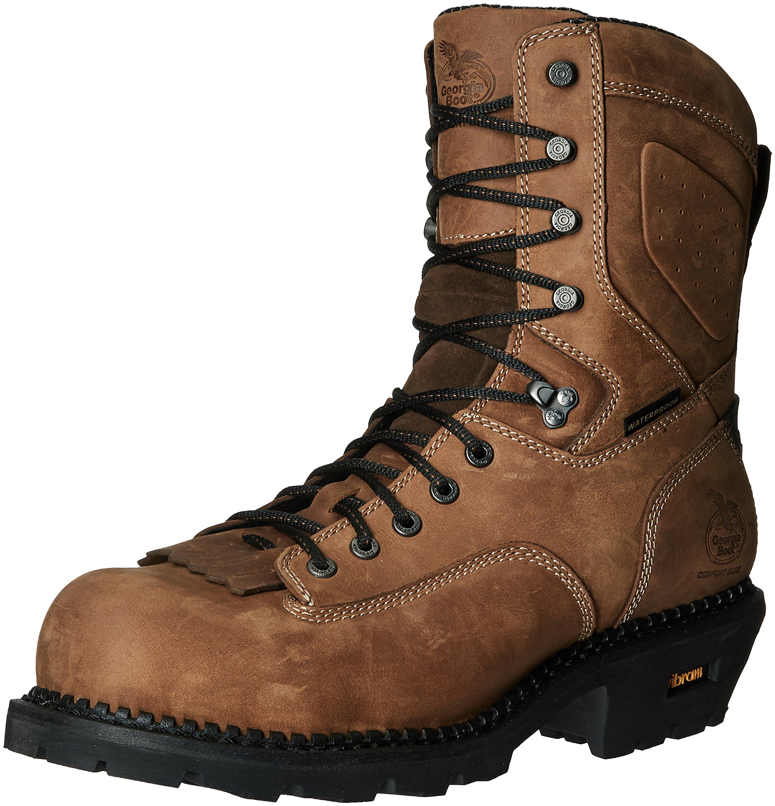 6f5f254da3a Details about Georgia Men's GB00098 Mid Calf Boot Brown 10.5 W US