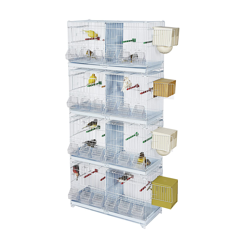 Kookaburra X4 - Jaula cuádruple para cría de pájaros, Doble ...