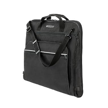PROTTONI 44  Garment Bag with Shoulder Strap - Carry On Suit Bag - Built in Hook - Multiple Pockets