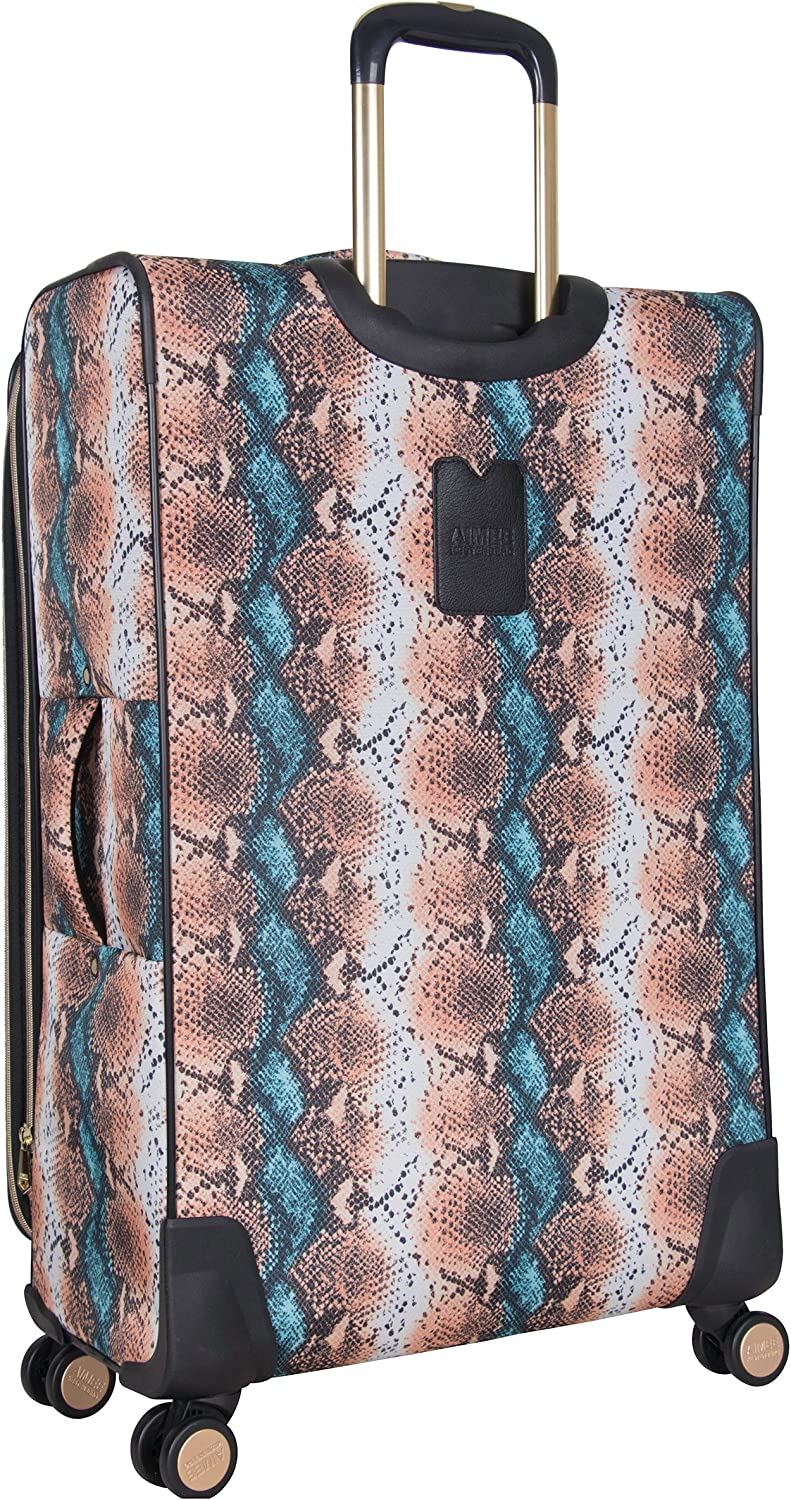 Blue Apricot Snake Aimee Kestenberg Womens Bali 28 600d Printed Polyester Expandable 8-Wheel Upright Luggage
