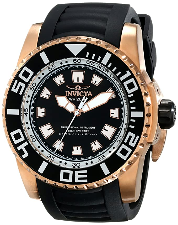 Amazon.com: Invicta Mens 14666 Pro Diver Analog Display Swiss Quartz Black Watch: Invicta: Watches