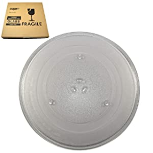 HQRP 14-1/8 inch Glass Turntable Tray for Samsung DE74-20002B DE74-20002A DE74-20002 1150157 MC7698W ME1460SB MG14H3020CM MG7980W MS1440WB MS1470WA MS14K6000AG Microwave Oven Cooking Plate 360mm