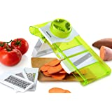 Gourmia GMS9220 5-in-1 Mandoline Slicer Home Kitchen Slicer With 5 Interchangeable Parts Includes Multiple Grating Blades for Fine to Coarse Slicing, Durable BPA free food safe material