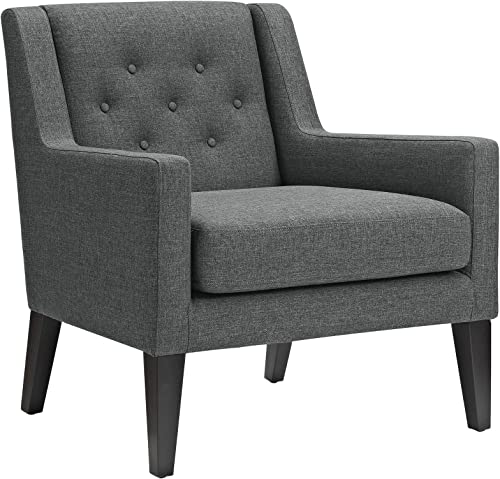 Modway Earnest Button Tufted Mid-Century Modern Accent Arm Lounge Chair