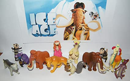 amazon com ice age deluxe figure set of 13 with manny ellie scrat