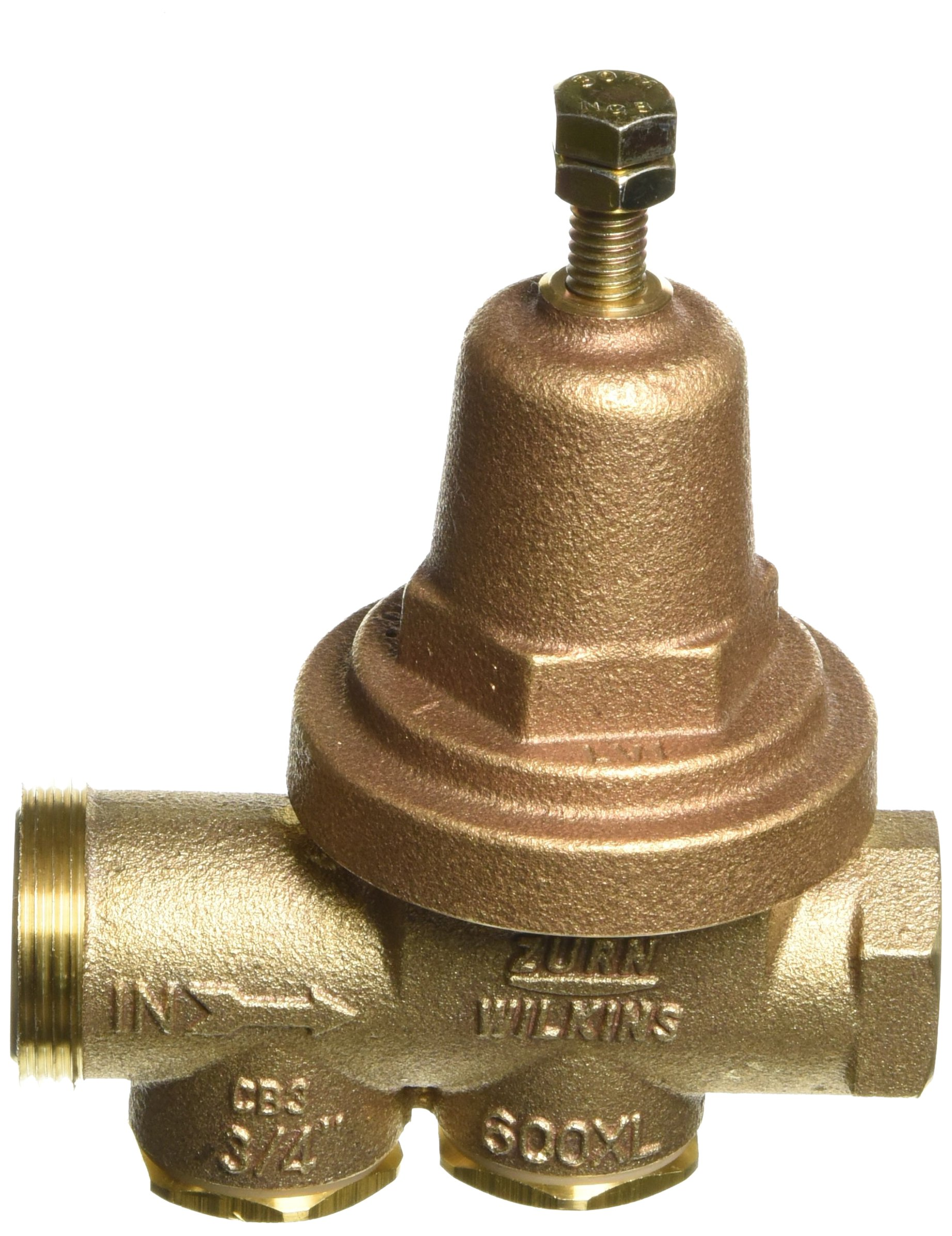 Zurn Wilkins Model 34-600XL 3/4'' Water Pressure Reducing Brass Valve with Integral By-pass Check Valve and Strainer, FNPT Union x FNPT, Lead Free by Wilkins (Image #3)