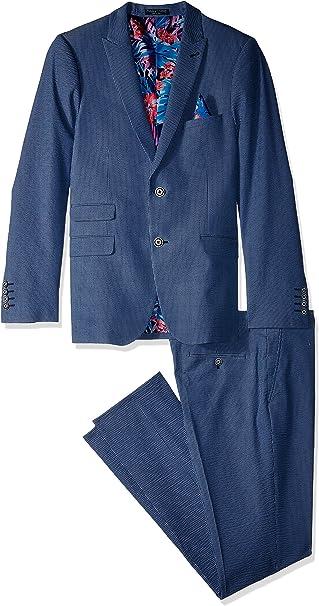Amazon.com: Paisley y gris traje de ajuste hombre Ashton ...