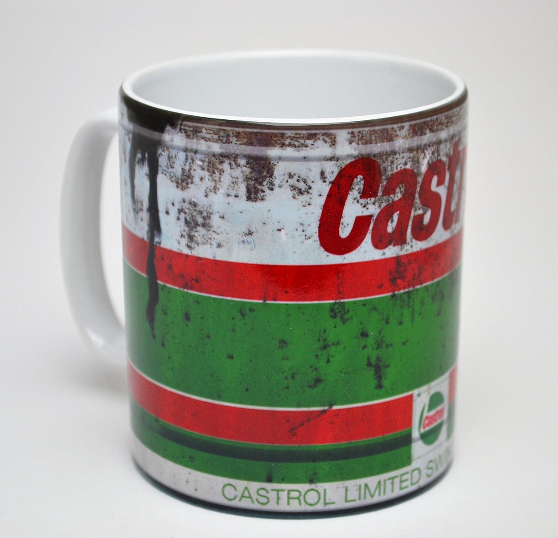 Castrol GTX Ölkanne Geschenk Motorrad Auto Mechaniker 313ml Tee Kaffeetasse