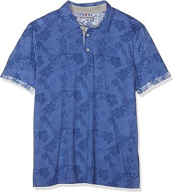 Pierre Cardin Poloshirt Jersey Palmen Print Denim Academy Polo ...