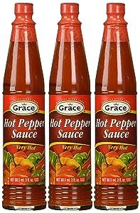 Grace Hot Pepper Sauce 3oz Pack of 3