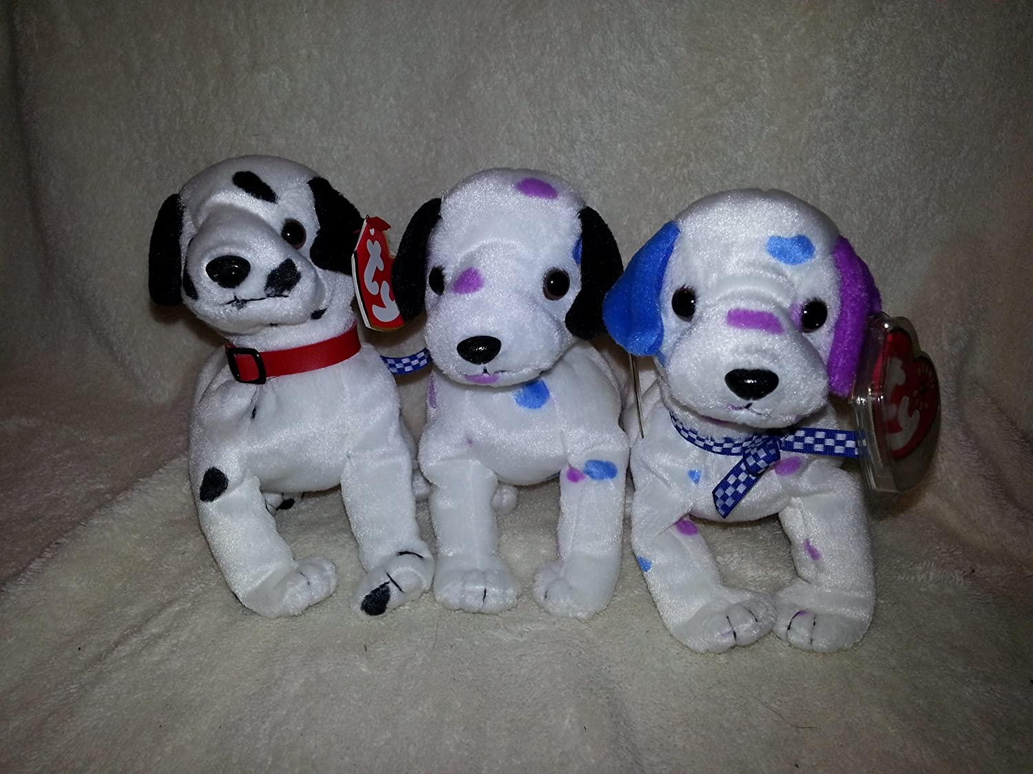 0c6e9ee1924 Amazon.com  Ty Beanie Babies - Dizzy the Dalmation - Lot of 3  Toys   Games