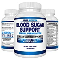 Blood Sugar Support Supplement - 20 Herbs & Multivitamin for Blood Sugar Control...