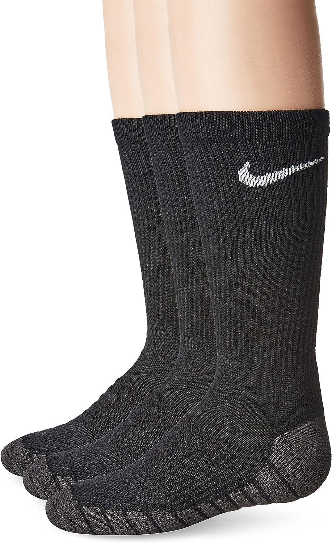 NIKE Kids' Everyday Max Cushion Crew Socks (3 Pairs): Clothing
