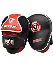 Open-Minded Pro Box Leather Focus Punch Paddles Boxing Pad Mma Strike Mitt Coaching Training Boxing, Martial Arts & Mma Sporting Goods