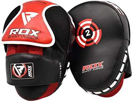 RDX Boxing Gloves Strike Pads Punching Focus Mitts Kick Shield Muay Thai US