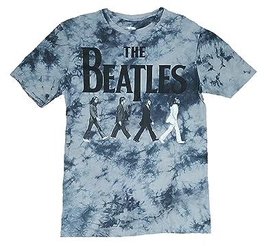 Beatles Abbey Road Gray Tie Dye Graphic T Shirt