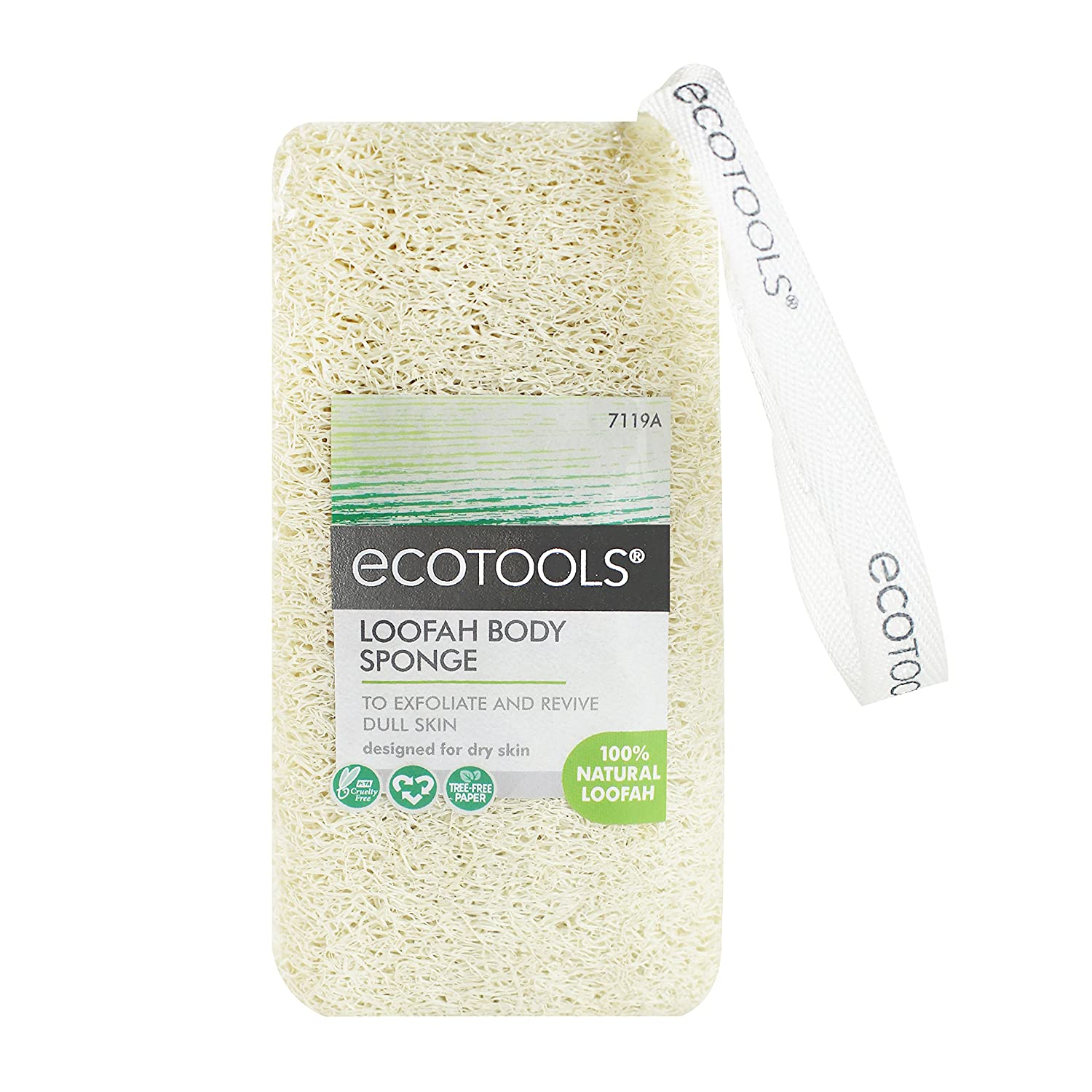 Ecotools Cruelty Free and Loofah Body Sponge (Pack of 3) Fine Netting Pouf; Rich Lather, Gentle Cleansing, and Exfoliation for Smoother, Softer Skin; Self Care Through Skin Care Paris Presents Incorporated 7119A