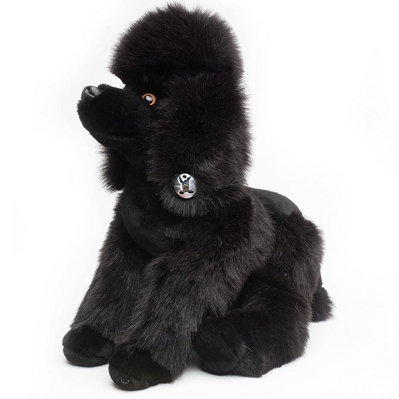Pudel schwarzY Plüschtier SchwarzSchlenkerhund 53 cm von Kuscheltiere.biz