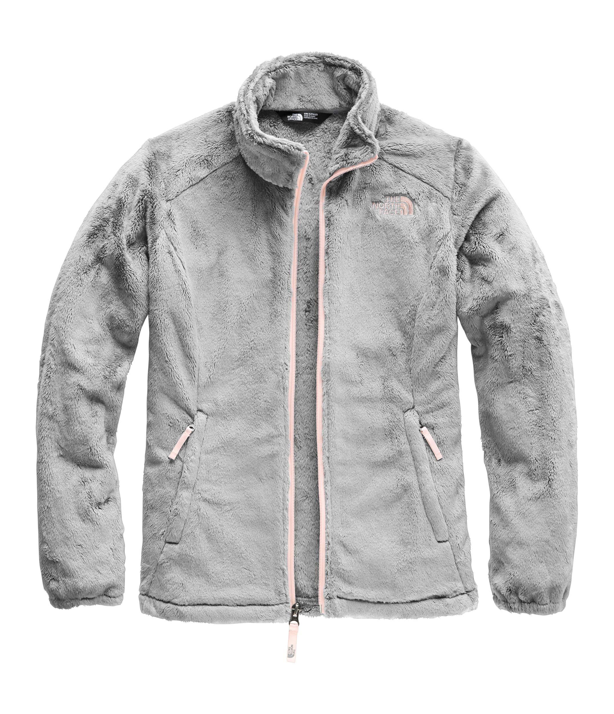 The North Face Girls' Osolita Jacket, Mid Grey/Pink Salt, XX-Small