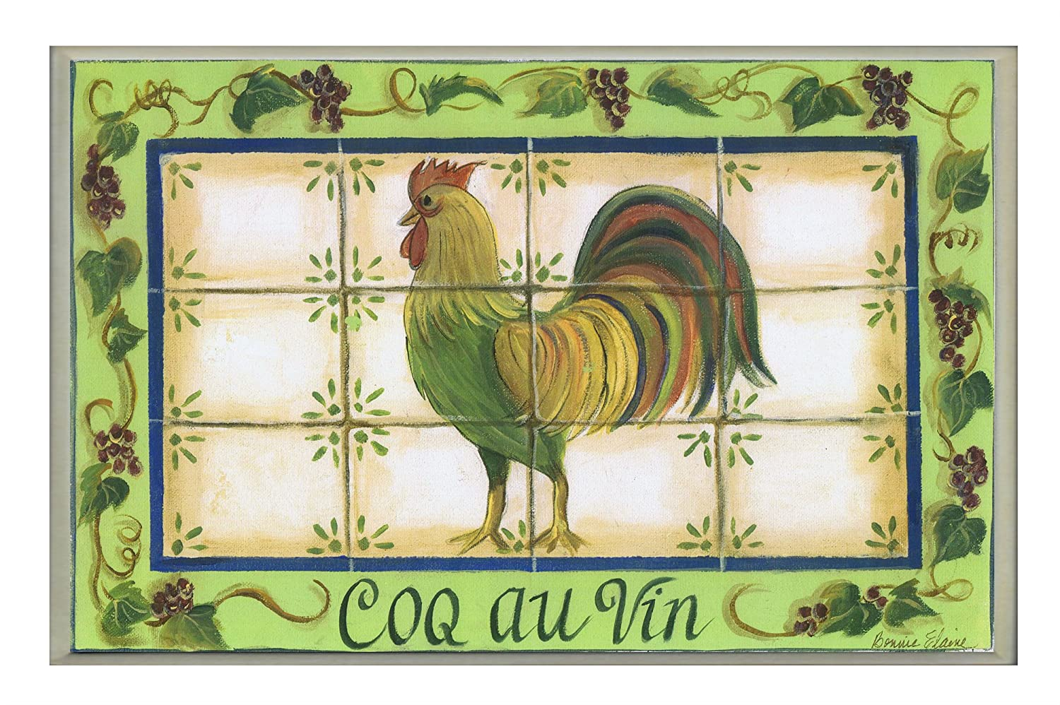 The Stupell Home Decor Collection Green with Tile Coq Au Vin ...