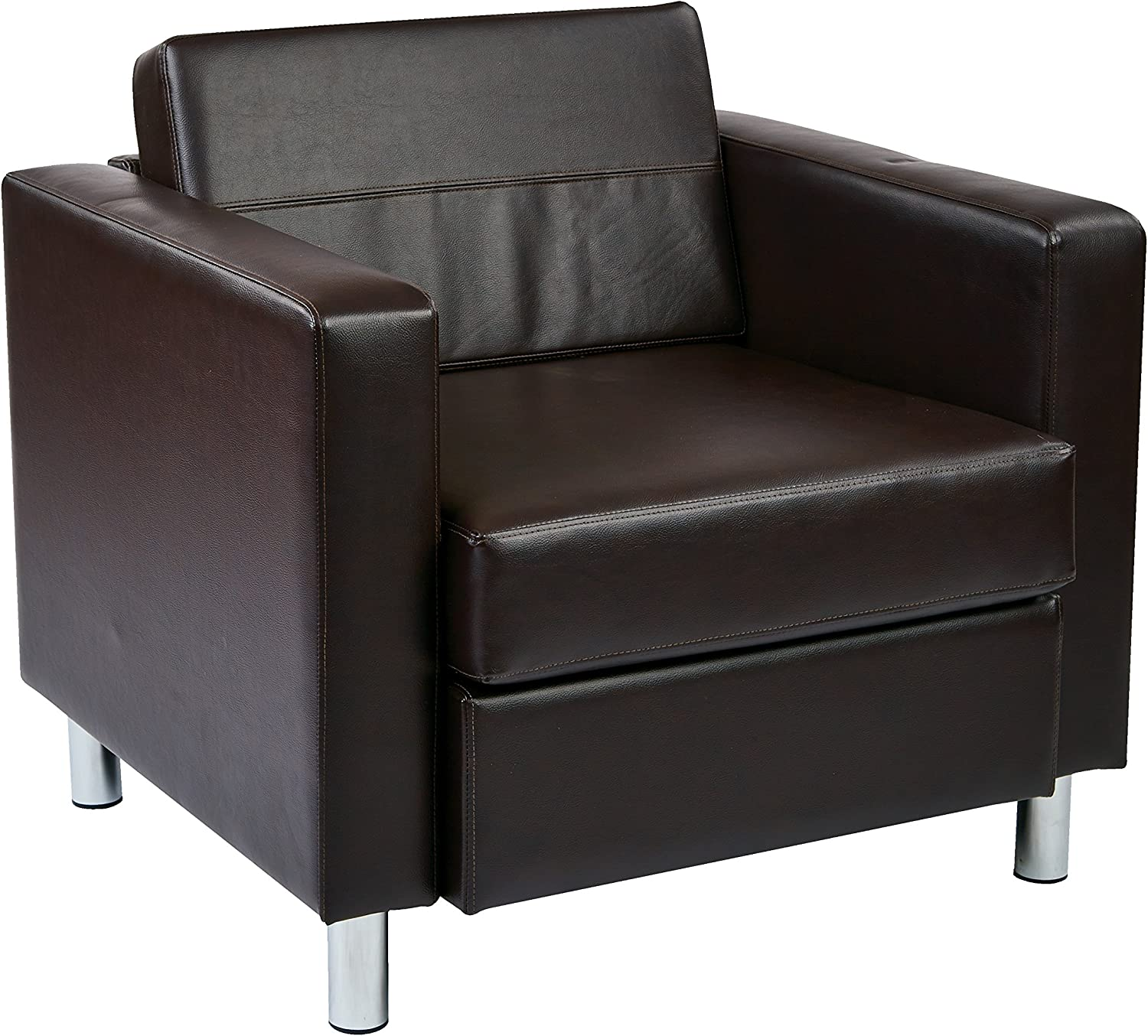 OSP Home Furnishings Pacific Armchair, Espresso