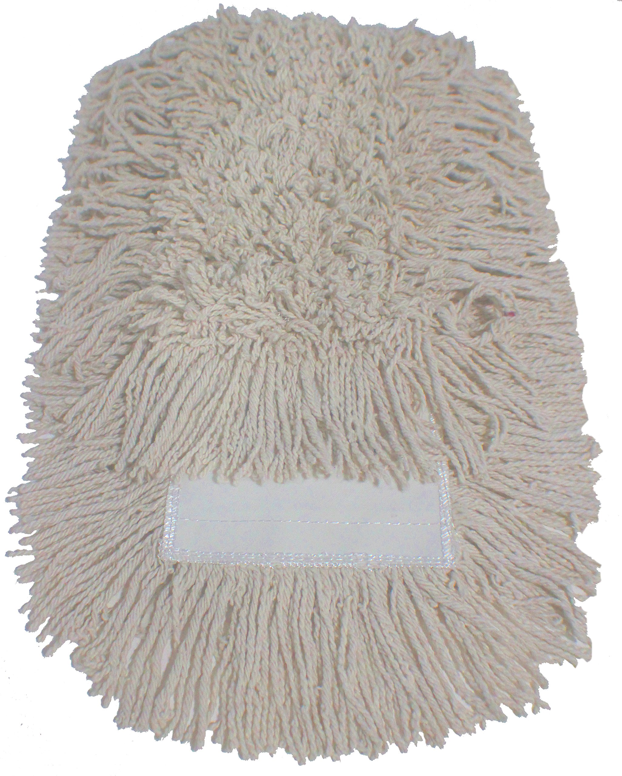 Dust Mop Kit 60'' : (1) 60'' White Industrial Closed-Loop Dust Mop, (1) 60'' Wire Dust Mop Frame & (1) Dust Mop Handle Clip-On Style Wood by Direct Mop Sales, Inc. (Image #5)